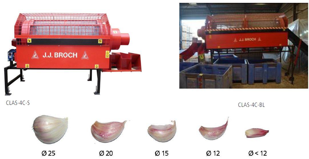 Obr. vlevo - Kalibrování s kapacitou 450 kg/h na obrázku vlevo, Obr. vpravo - Kalibrování s kapacitou 1300 kg/h